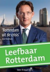 Joost Eerdmans verkiezingsposter
