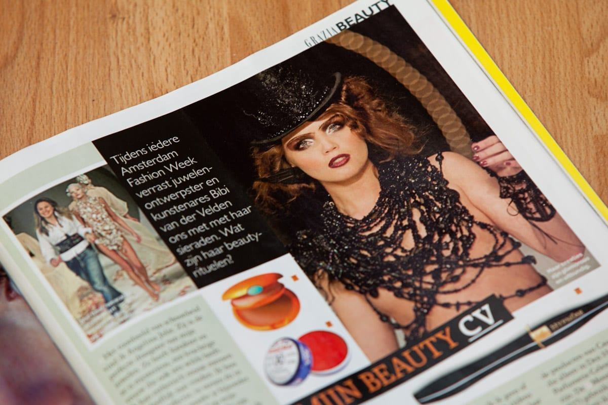 grazia publicatie bibi van der velden fashionweek